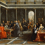 Louis-Michel Dumesnil -- Christina of Sweden and her court, Château de Versailles