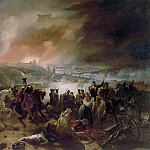 Charles Langlois -- Battle of Smolensk, Night of August 17, 1812; Crimean War; Napoleon gives his orders in front of the town in flames, Château de Versailles