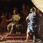 Jean-Baptiste de Champaigne -- Alexander the Great Receiving News of the Death by Immolation of the Indian Gymnosophist Calanus , Château de Versailles