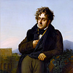 Château de Versailles - Anne-Louis Girodet de Roucy-Trioson -- Portrait of Chateaubriand (A Man Meditating on the Ruins of Rome)