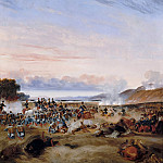 Theodore Leblanc -- Battle of Habrah in the Province of Oran, Algeria; Marshall Clausel and Duc d'Orléans prevailed over light infantry of Abd-el-Kader, 3 December 1835; Episode of the conquest of Algeria, Château de Versailles