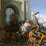 Henri Lehmann -- Death of Robert le Fort in the Battle of Brisserte, 25 July 866, Château de Versailles
