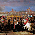 Adam Frans van der Meulen -- Entry of Louis XIV and Maria-Theresa in the city of Douai, 23 August 1667, Château de Versailles