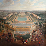 Château de Versailles - Pierre-Denis Martin -- General view of the chateau and pavilions at Marly