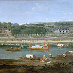 Château de Versailles - Adam Frans van der Meulen -- View of the park and chateau at Saint-Cloud