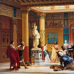 Gustave Boulanger -- Rehersal of The Flute Player and The Wife of Diomedes in the atrium of Prince Napoleon's Pompeian house in Paris in 1860, Château de Versailles