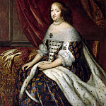 Charles Beaubrun, Henri Beaubrun the Younger; attributed to Jean I Nocret -- Anne, Queen of France, consort of Louis XIII , Château de Versailles