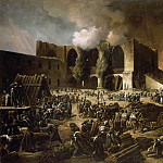 François-Joseph Heim -- Defense of Burgos Castle by General Dubreton during the attack of British and Portuguese soldiers under General Wellington, episode in the Spanish War, or Peninsula War, October 1812, Château de Versailles