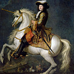 René-Antoine Houasse -- Louis XIV, King of France and Navarre, on Horseback, Château de Versailles