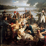 Charles Meynier -- Return of Napoleon to the Isle of Lobau after the Battle of Essling, 23 May 1809, Château de Versailles