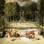 Château de Versailles - Jean Cotelle the elder -- View of the Water Theater Grove