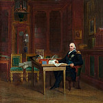 Baron François Gérard -- Louis XVIII, King of France and Navarre, in the Bibliothèque of the Tuileries in 1823, Château de Versailles