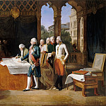 Guillaume Lethiere -- Preliminaries of the peace, signing at Leoben, 17 April 1797, Château de Versailles