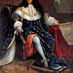 Attributed to Nicolas René Jollain the Elder -- Portrait of Louis XIV Holding the Plan for the Maison Royale de Saint-Louis at Saint-Cyr, Château de Versailles