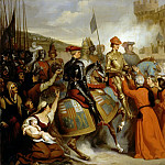 Henri de Caisne -- Entry of Charles VII into Rouen, followed by Dunois and Jacques Coeur, 10 November 1449, Château de Versailles