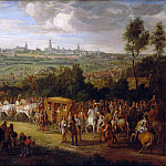 Adam Frans van der Meulen -- Entry of Louis XIV and Maria-Theresia into Arras, 30 July 1667, Château de Versailles