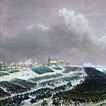 Château de Versailles - Jean Antoine Simeon Fort -- Battle of Eylau, Febuary 8, 1807. The Russian army pushed back by the French troops
