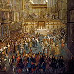 Attributed to Pierre-Denis Martin -- The coronation of Louis XV in the cathedral at Reims, 25 October 1722, Château de Versailles