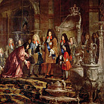 Château de Versailles - Claude-Guy Hallé -- Audience of the Doge of Venice with Louis XIV on 15 May 1685 in the Hall of Mirrors at Versailles (Réparation faite à Louis XIV par le doge de Gênes dans la galerie des Glaces)