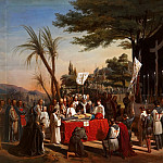 Edouard Cibot -- Funeral of Godefroy of Bouillon on Mount Calvary in Jerusalem, 23 July 1100, Château de Versailles
