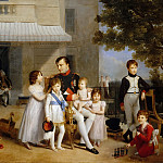 Louis Ducis -- The Emperor Napoleon I on the terrace of the Château de Saint-Cloud surrounded by his children, Château de Versailles