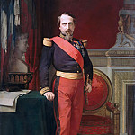 Hippolyte-Jean Flandrin -- Portrait of Napoleon III, wearing the uniform of Brigadier General in his Grand Cabinet at the Tuileries, Château de Versailles
