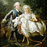 François Hubert Drouais -- The Count d'Artois and Madame Clotilde, Château de Versailles