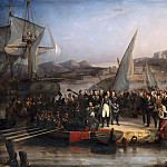 Joseph Beaume -- Napoléon I, leaving Elba to return to France, embarks from Portoferraio on February 26, 1815, Château de Versailles