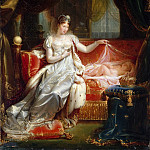 Jean Pierre Franque -- Empress Marie-Louise Watching the Sleeping King of Rome, Château de Versailles