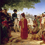 Pierre Guérin -- Napoleon Bonaparte Pardoning the Rebels in Cairo, October 30, 1798, Château de Versailles