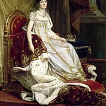 Joséphine de Beauharnais, Empress, in Imperial Costume Seated on her Throne, Jose Tapiro Baro
