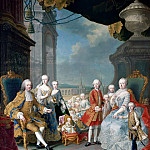 Anonymous Dutch painter after Martin van Meytens II -- Francis I, Maria-Theresa and their children, Château de Versailles