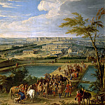 Jean-Baptiste Martin the elder -- View of the city and the chateau of Versailles, seen from Montboron hill, Château de Versailles