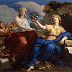 Louis Boullogne the Younger -- The Muses Urania and Melpomene , Château de Versailles