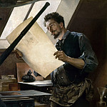 Paul Mathey -- Felicien Rops in his studio , Château de Versailles