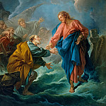 François Boucher -- Saint Peter Attempts to Walk on Water, Château de Versailles