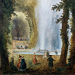 Robert,Hubert -- Le jet d'eau du bosquet des muses a Marly-The fountain in the Grove of the muses in Marly, Château de Versailles