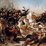 Antoine-Jean Gros; supplemented on the sides by Auguste-Hyacinthe Debay -- Battle of the Pyramids, 21 July 1798, Château de Versailles