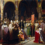 Jean-Baptiste Mauzaisse -- Louis VII takes the standard at Saint-Denis, 1147, Château de Versailles