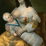 Louis XIV and his wet-nurse Mme Longuet de la Giraudière, Henri Beau