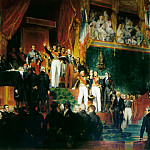 Eugène Devéria -- The King takes an oath, in the presence of the Houses of Parliament, to uphold the Charter of 1830 , Château de Versailles