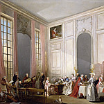 Michel Barthélemy Ollivier -- English tea at the Salon des Quatre Glaces at the Temple, with the Prince de Conti, Château de Versailles