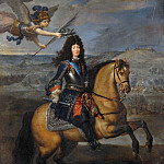 Equestrian portrait of Louis XIV before Kassel, Pierre Mignard