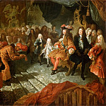 Antoine Coypel -- Louis XIV receiving the envoy from Persia in the Hall of Mirrors, 19 February 1715, Château de Versailles