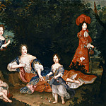 Anonymous French painter -- Madame de Montespan and her children, Château de Versailles