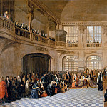 Château de Versailles - Antoine Pezey -- Louis XIV receiving the oath of the Marquis de Dangeau, Grand Master of the united Orders of Notre Dame of Mont Carmel and of Saint Lazare, in the chapel at the chateau at Versaille, 18 December 1695