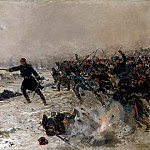 Alphonse de Neuville -- Episode of the War of 1870: Combat at Chennevieres, Château de Versailles