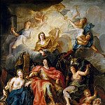 Antoine Coypel -- Allegory of the Glory of Louis XIV, Château de Versailles