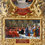 Château de Versailles - Jean Alaux -- Emancipation of the Serfs by Louis X in July 1315 [upper]; Philip IV the Fair establishes Parliament in Paris in 1303 [lower]