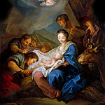Anonymous French painter after Carle van Loo -- Adoration of the shepherds, Château de Versailles